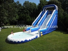 Commercial Giant Inflatable Water Slide With Pool