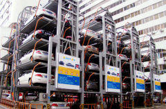 Intelligent rotary electric parking car lifting system
