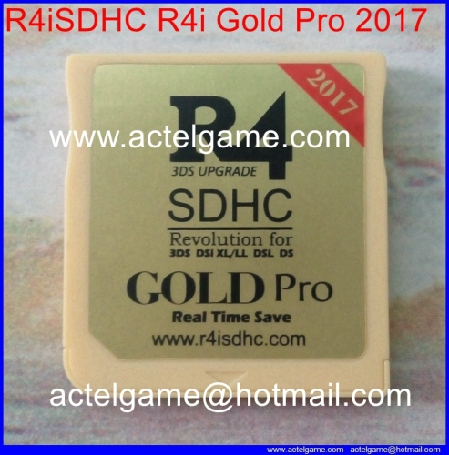 R4i gold pro (The Gold) r4isdhc 2017 3DS flash card 3DS game card