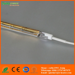 Single tube short wave infrared quartz heater lamp