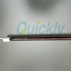 quartz heating tube ir ruby lamps SK15 ceramic end
