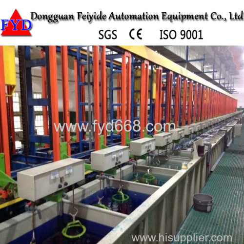 Feiyide Hanging Automatic Plating Line for Hardware parts Chrome Plating