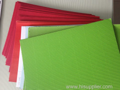F flute corrugated sheets for cosmetics packaging .