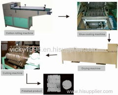 dental cotton roll production line