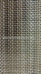 square hole opening wire mesh screen in crimped style