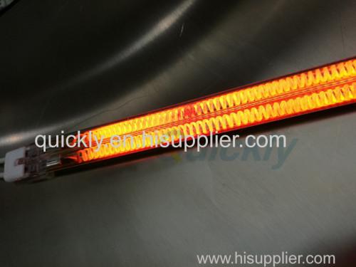 High power carbon fiber twin tube quartz emitters