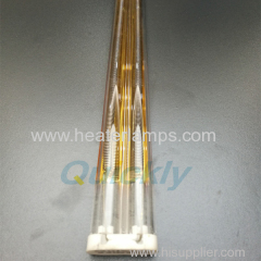 gold reflector quartz glass medium wave heater