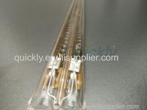 Twin tube carbon medium wave quartz heater