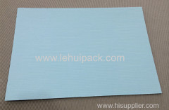 corrugated cardboard sheets in white and blackv for gift packaging