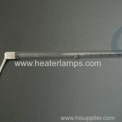 Glass glue drying single tube infrared heaters