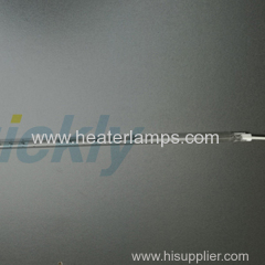 Glass glue drying transparent quartz heater