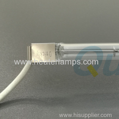 Single tube transparent heater lamps