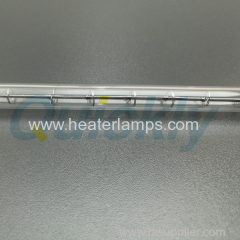 Single tube transparent infrared heating tube