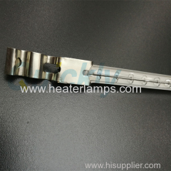 Glass drying transparent shortwave quartz emitter