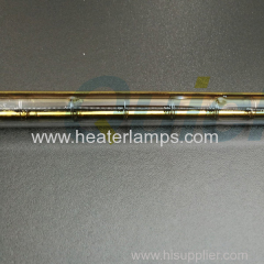 Single tube transparent halogen infrared lamps