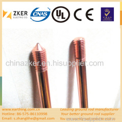 customized thickness copper bonded mild earth rod