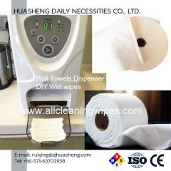 Dry roll wipes washcloth