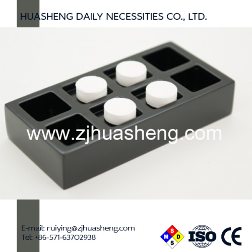 Compressed Napkin Tool Dispenser Black Resin Tray 4 person use