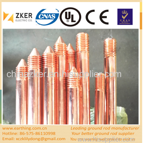electric fence copper grounding rod
