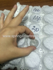 Micro pocket springs for mattress