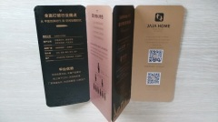 Custom round-corner five-fold brochure printer