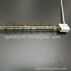 Halogen infrared emitter applied for glass