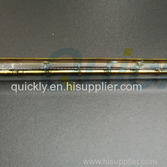 Short wavelength quartz infrared lamps