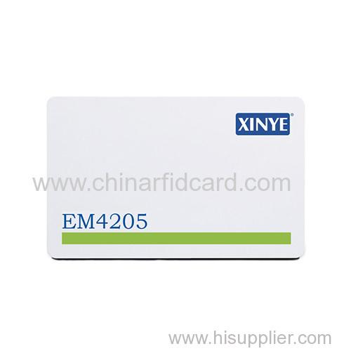 Magnetic stripe EM4205 rfid card