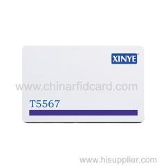 Magnetic stripe rfid card 5567