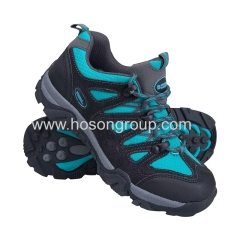 Leather and suede lace sports children shoes