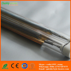 gold coating twin tubes infrared lamps