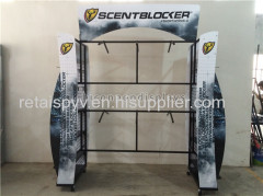 Clothing Store Fixtures Metal Hanging Garment Display Stand