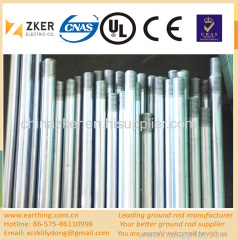 electrolytically galvanized earth rod