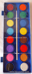 16 Colors Diameter 2.8cm Watercolor Paint Cake Palette
