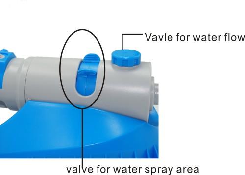 Plastic garden water oscillate sprinkler