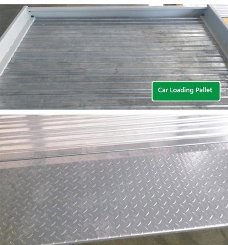 Car loading plate for garage