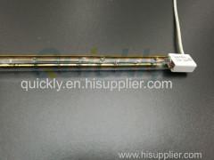 Quartz tube halogen infrared heat light bulb