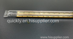 Quartz heater gold reflector infrared emitter