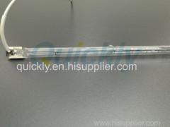 High purity quartz 1000 watt heat lamp bulb