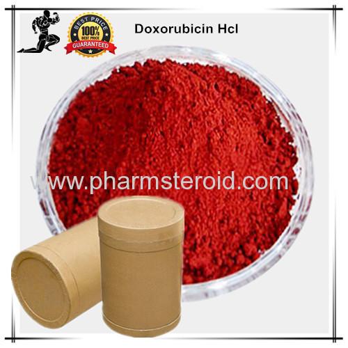 Orange red Anticancer Raw Powders Doxorubicin HCL Treating Breast cancer