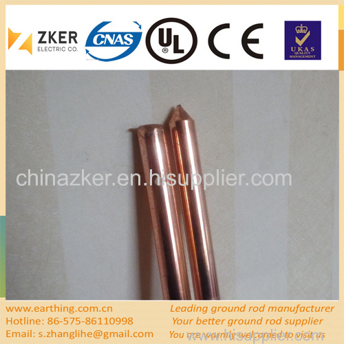 copper coated steel drilling grounding rod