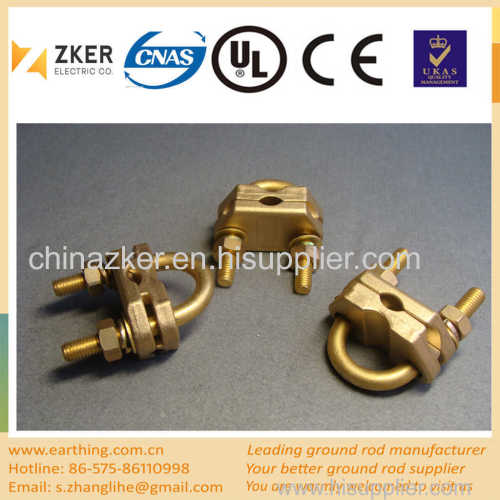 brass U tape line clamp
