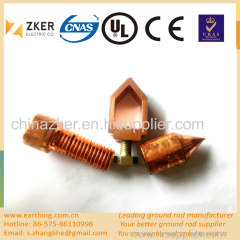 copper clad high tensile strength ground rod fittings