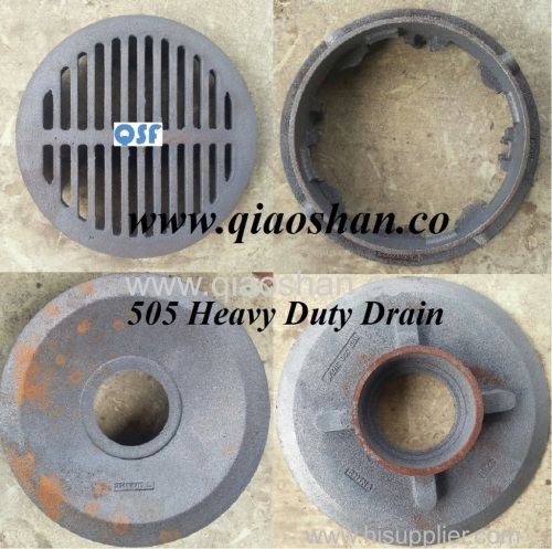 15 1/4 Inch Large Sump Cast Iron Roof Drain with No Hub