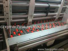Full automatic 4 color printing slotting die cutting machine with stacker/Corrugated carton box printing machine