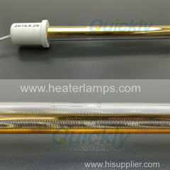 quartz glass medium wave infrared heater with gold reflector