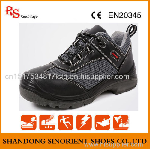 Mining breathable lining security production steel toe safety shoes