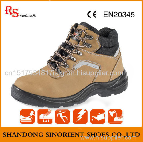 breathable lining nubuck leather safety shoes climbing shoes made in china gaomi city