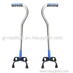 Medical thrapy equipment anti-shock ajustable pole stick cane