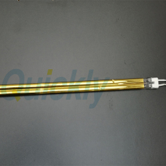 industrial electric quartz heater with semi gold coating